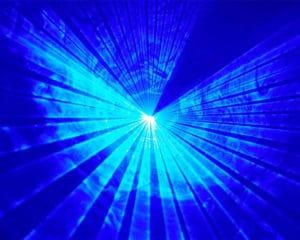 lasershow blue