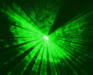 lasershow green
